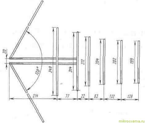 Дециметровая часть антенны