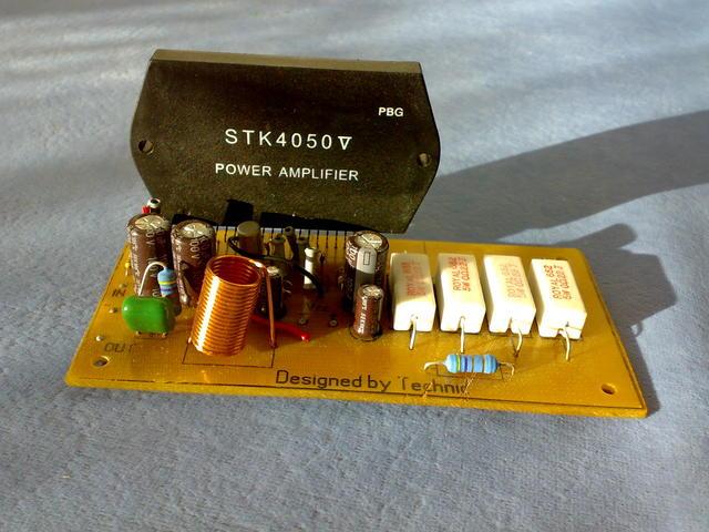 Собранный усилитель STK с выходной мощностью 200 ватт