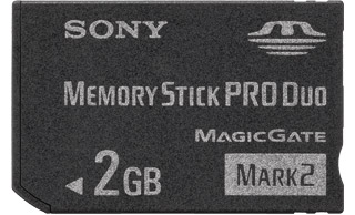Вид Memory Stick Pro Duo