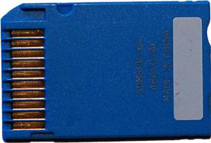Вид сзади Memory Stick Pro Duo