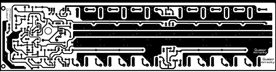 Топология платы для 1000 ватт MOSFET усилителя
