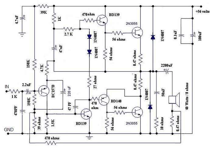 Усилитель класса В Микросхема - радиолюбительские схемы