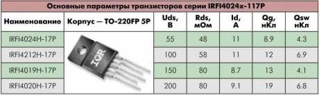 МОП-транзисторы рекомендуемые