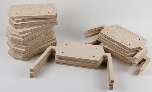 25 фанерных блоков для Footstool