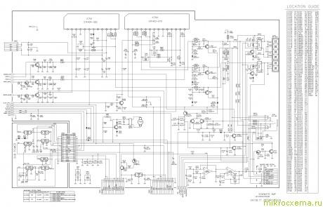 Схема усилителя LG LM-D2540.