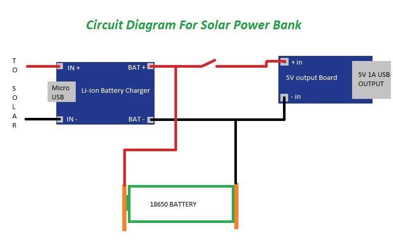 Схема самодельного Power Bank