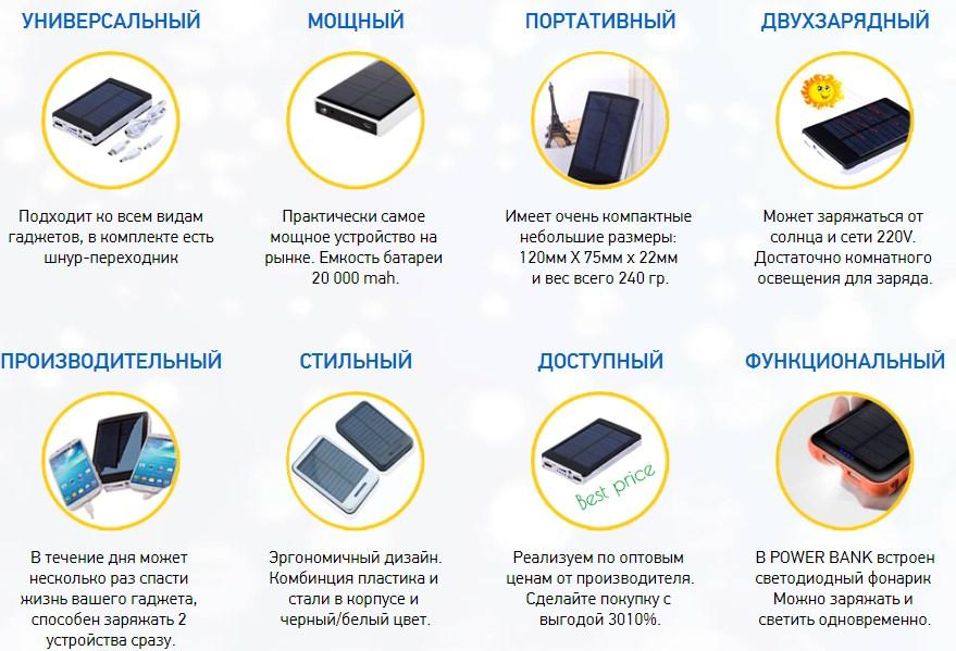 Достоинства PowerBank 20000 мАч
